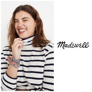 Madewell Whisper Cotton Thin Stripe Turtleneck